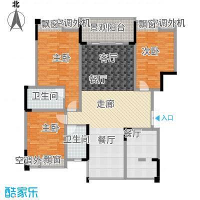 海宇西苑128.00㎡一期5号楼标准层C户型-副本