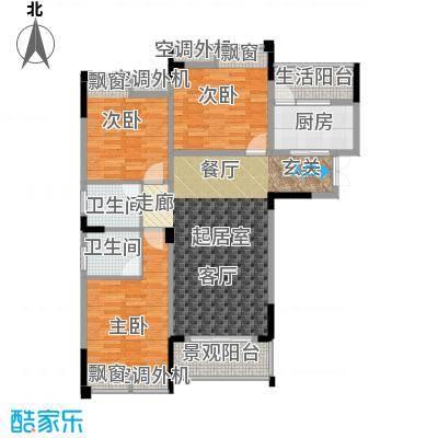 海宇西苑109.00㎡一期1号楼标准层A户型-副本