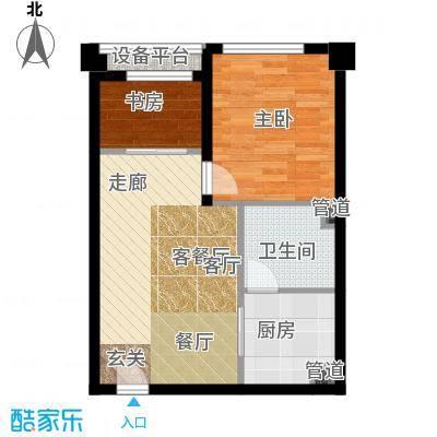 清流水韵50.00㎡单身公寓 清流新贵户型1室1厅1卫-副本