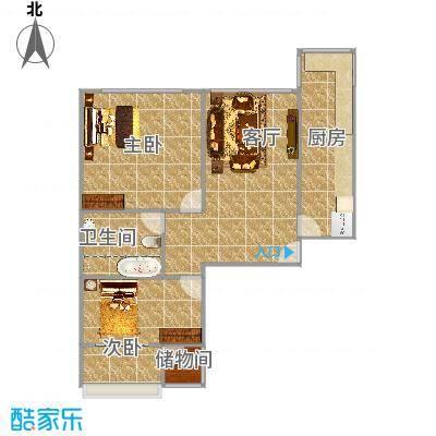 北京_新郝家园一号楼三单元右手屋户型_2015-08-25-1008
