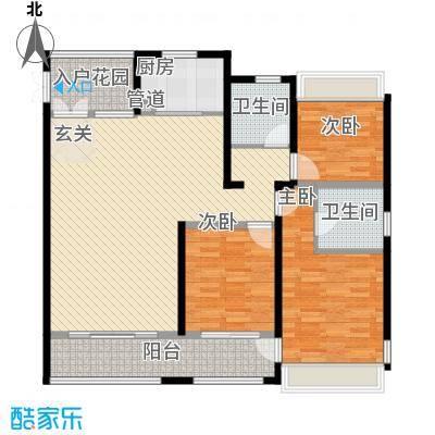 杭州湾世纪城143.30㎡清芷园E12#16#20#01户型3室2厅2卫1厨