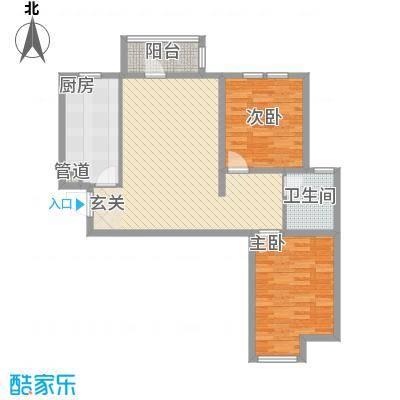 香邑・拉菲堡7.00㎡1#楼-C户型2室2厅1卫1厨