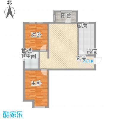 香邑・拉菲堡4.00㎡1号楼-A户型2室2厅1卫1厨