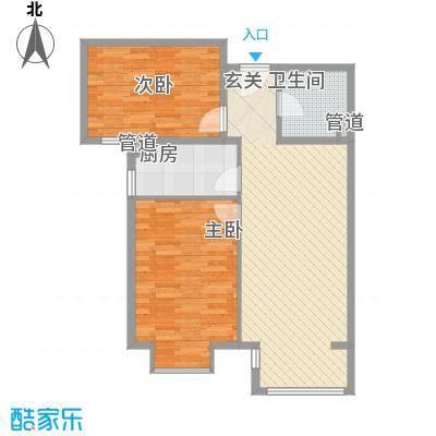 香邑・拉菲堡86.43㎡7#楼B户型2室2厅1卫1厨