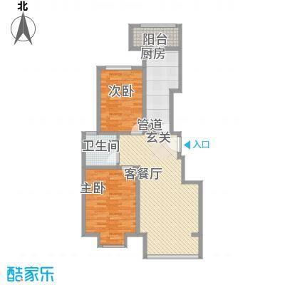 香邑・拉菲堡15.00㎡2#楼户型2室2厅1卫1厨
