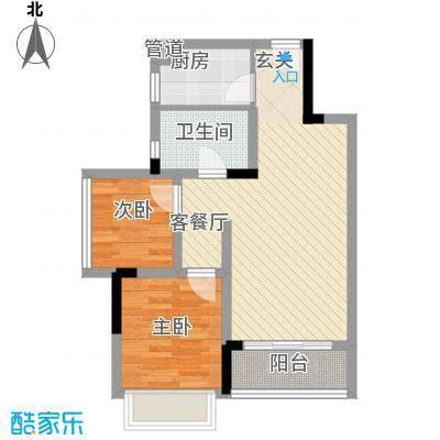 长虹百荟花园3、4栋标准层C2户型