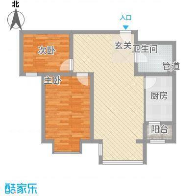 香邑・拉菲堡8.00㎡1号楼-B户型2室2厅1卫1厨