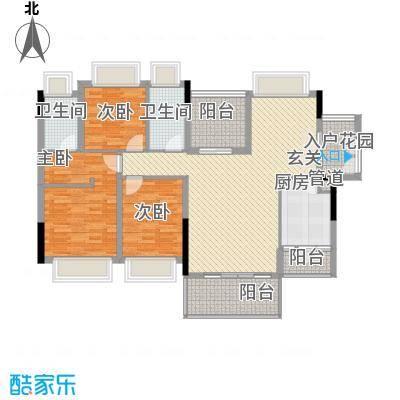 长虹百荟花园7-13栋标准层A1(3+1)户型