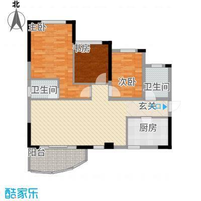 金茂华庭16.00㎡03B户型3室2厅1卫1厨