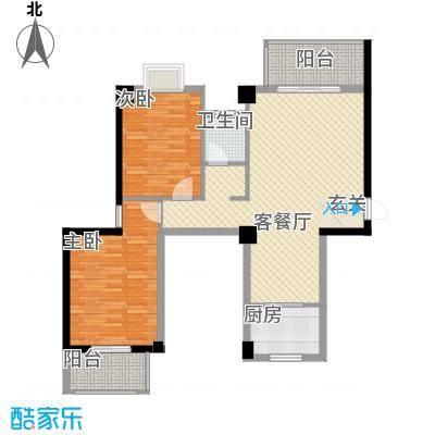 广隆海尚首府111.00㎡一期1、2#G户型2室2厅1卫1厨