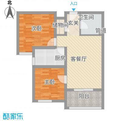 龙TOWN78.20㎡14、15、16、18号楼户型