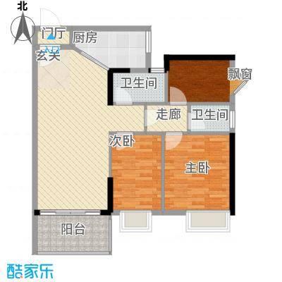 金茂华庭6.00㎡01户型3室2厅1卫1厨