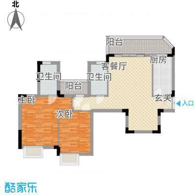 东方国际花园15.88㎡G户型2室2厅2卫1厨