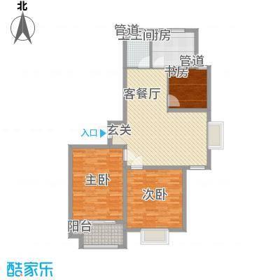 港湾明珠二期20#楼C1户型