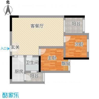 唐庄15户型2室2厅1卫1厨