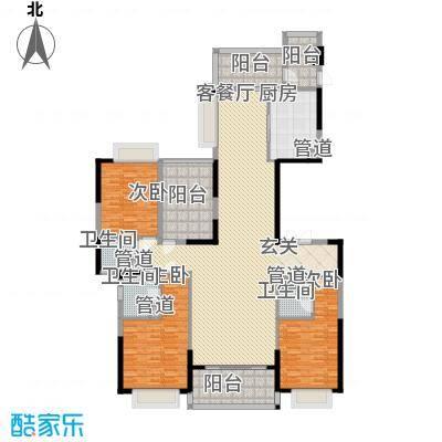 天骄御峰2.00㎡11栋2单元01户型3室2厅3卫1厨