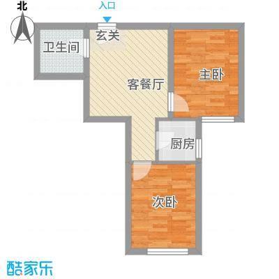 万邦迎泽苑6.34㎡六户型2室1厅1卫1厨