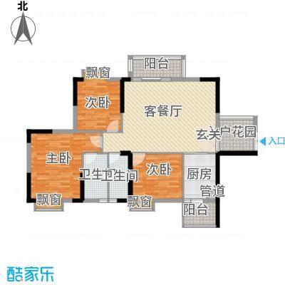 奥园金域113.00㎡11栋01/02单位户型3室2厅2卫1厨