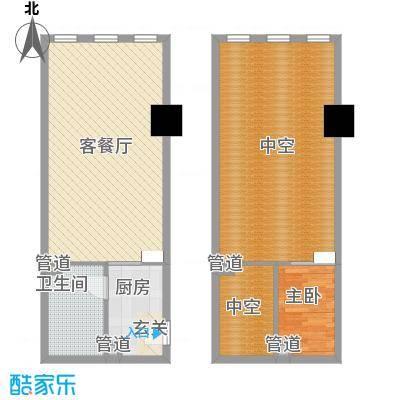 新建Soho63.84㎡新建SOHO六户型1室1厅1卫1厨