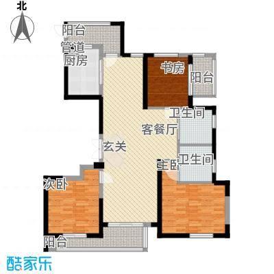 象山丹桂花园142.00㎡户型3室2厅2卫1厨