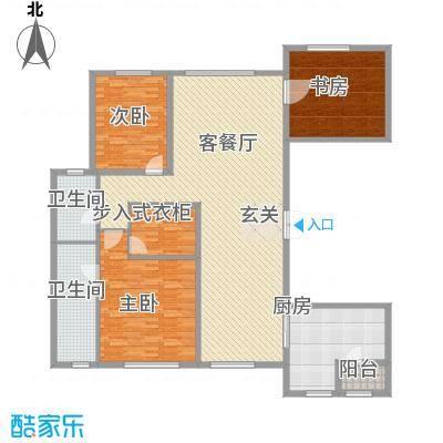 中庚当代艺术22.00㎡2号楼B户型3室2厅2卫1厨