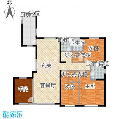中庚当代艺术21.00㎡2号楼D户型4室2厅2卫1厨