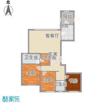 中庚当代艺术16.00㎡1号楼A户型3室2厅2卫1厨