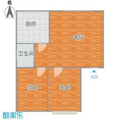 55平米两居室