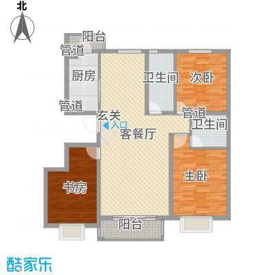 兰馨花园项目143.58㎡B1户型3室2厅2卫1厨
