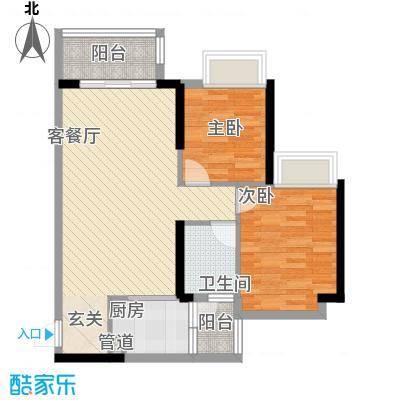 派78.00㎡1栋04&2栋03户型2室2厅1卫1厨