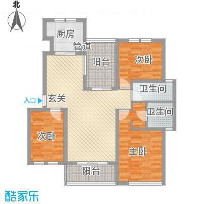 世茂东都128.21㎡B多层住宅户型3室2厅2卫