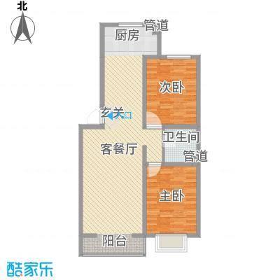 公元仰山5.33㎡C-01户型2室2厅1卫1厨