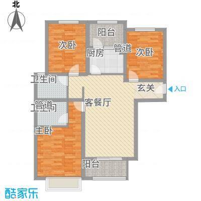 龙TOWN114.00㎡A10/A11楼F3户型3室2厅2卫1厨