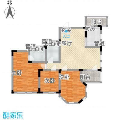 金道城127.33㎡11#B户型3室2厅2卫1厨