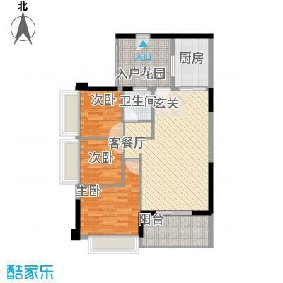 侨城水岸1、3栋03户型3室2厅1卫1厨