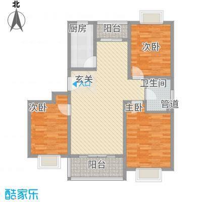 宜辉现代城112.60㎡9号楼B户型3室2厅1卫1厨