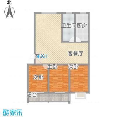 银枫家园132.00㎡二期西区多层户型3室2厅1卫1厨