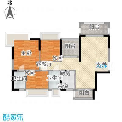 嘉宏公园1号115.00㎡3-6栋01、02单元梧桐香颂户型4室2厅2卫1厨