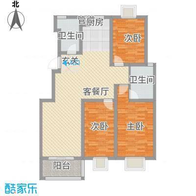 扬州印象花园125.00㎡B3户型3室2厅1卫1厨