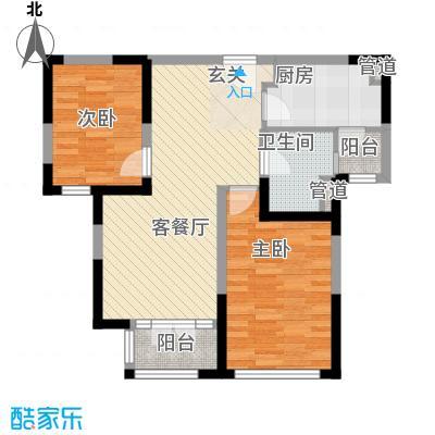 新梅江锦秀里高层标准层C-02户型