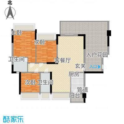 东城四季12.00㎡7、8栋01、0户型3室2厅2卫1厨