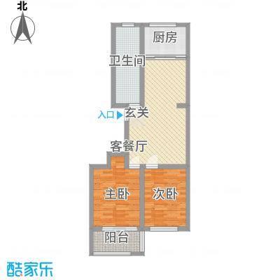 景谊苑小区83.10㎡7/8号楼小高层东单元户型2室2厅1卫1厨