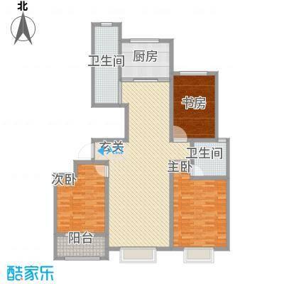 荔水湾151.00㎡高层9号楼B户型3室2厅2卫1厨