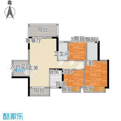 东港华府8.87㎡3/4号楼04户型3室2厅2卫1厨