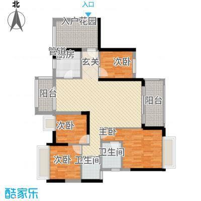 美林春天135.00㎡4-6栋N+1户型4室2厅2卫