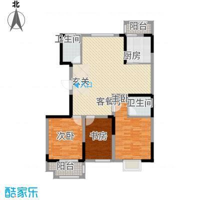 虞河花园131.70㎡高层25/17#楼1、3户型3室2厅2卫1厨