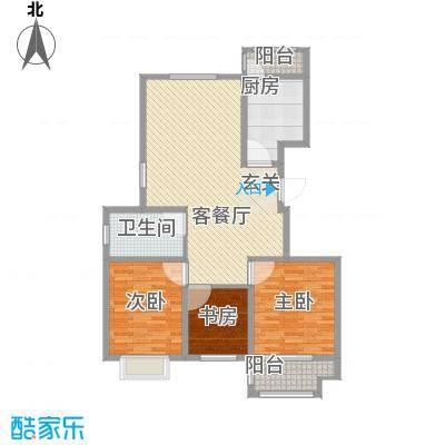 虞河花园133.22㎡高层8#楼1户型3室2厅1卫1厨