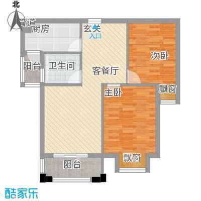 星光银河湾8.74㎡1、2、3号楼G5-A2户型2室2厅1卫1厨