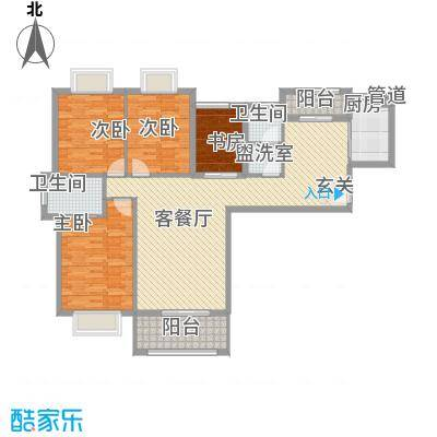 星光银河湾133.88㎡5号楼G1-03户型4室2厅2卫1厨