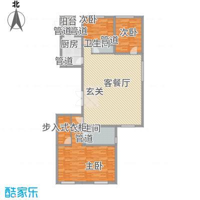 沈阳万达公馆B3-D户型